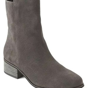 Gap Suede Grey Zip Ankle Boots-8